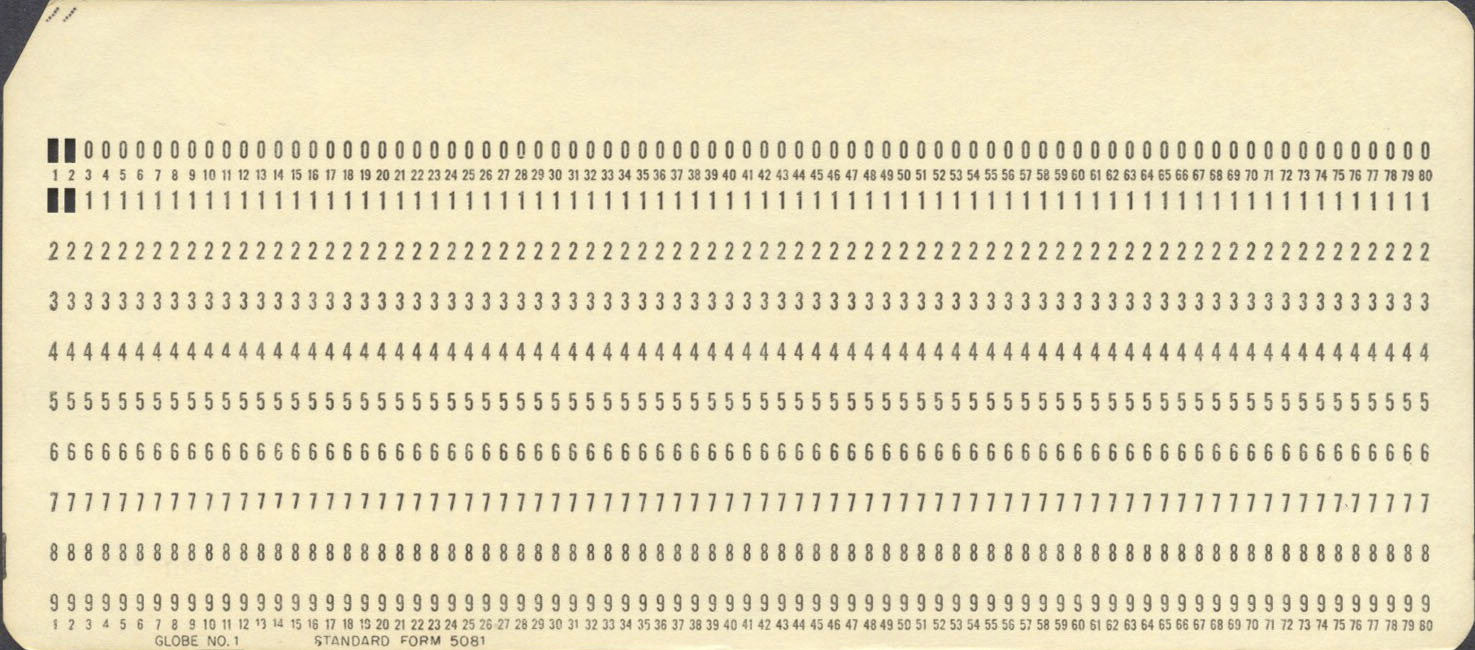 A collection of punched cards 1 standard form 5081 falaconquin
